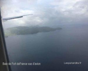 Baie de Ford-de-France vue d'avion