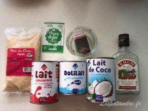Blanc-manger coco, ingrédients