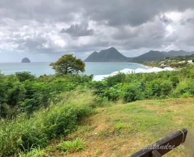 Panorama sur la l'Anse du Diamant