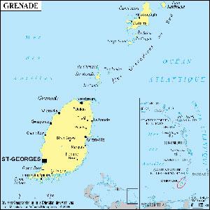 Carte de l'ile de Grenade