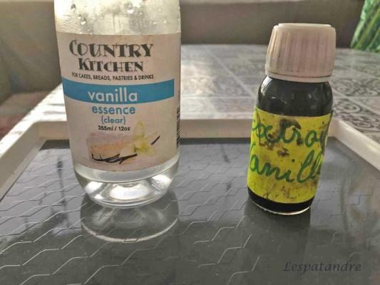 Essence et extrait de vanille