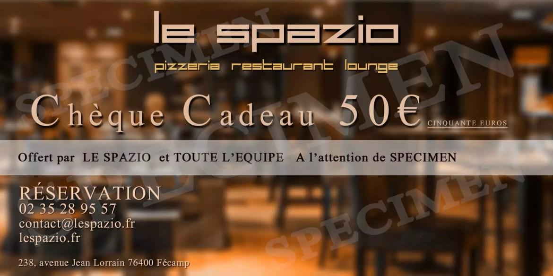 Chèques Cadeaux Le Spazio Pizzeria Restaurant à Fécamp