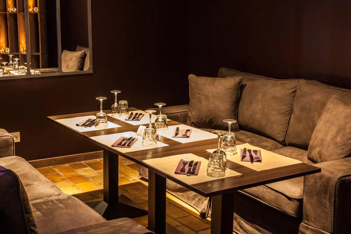 Salon du restaurant Le Spazio à Fécamp