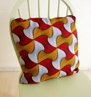 coussin wax rouge