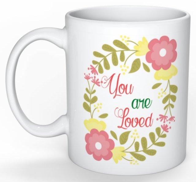 Mug personnalisé - typographie - You are love - Mug humour - idée cadeau