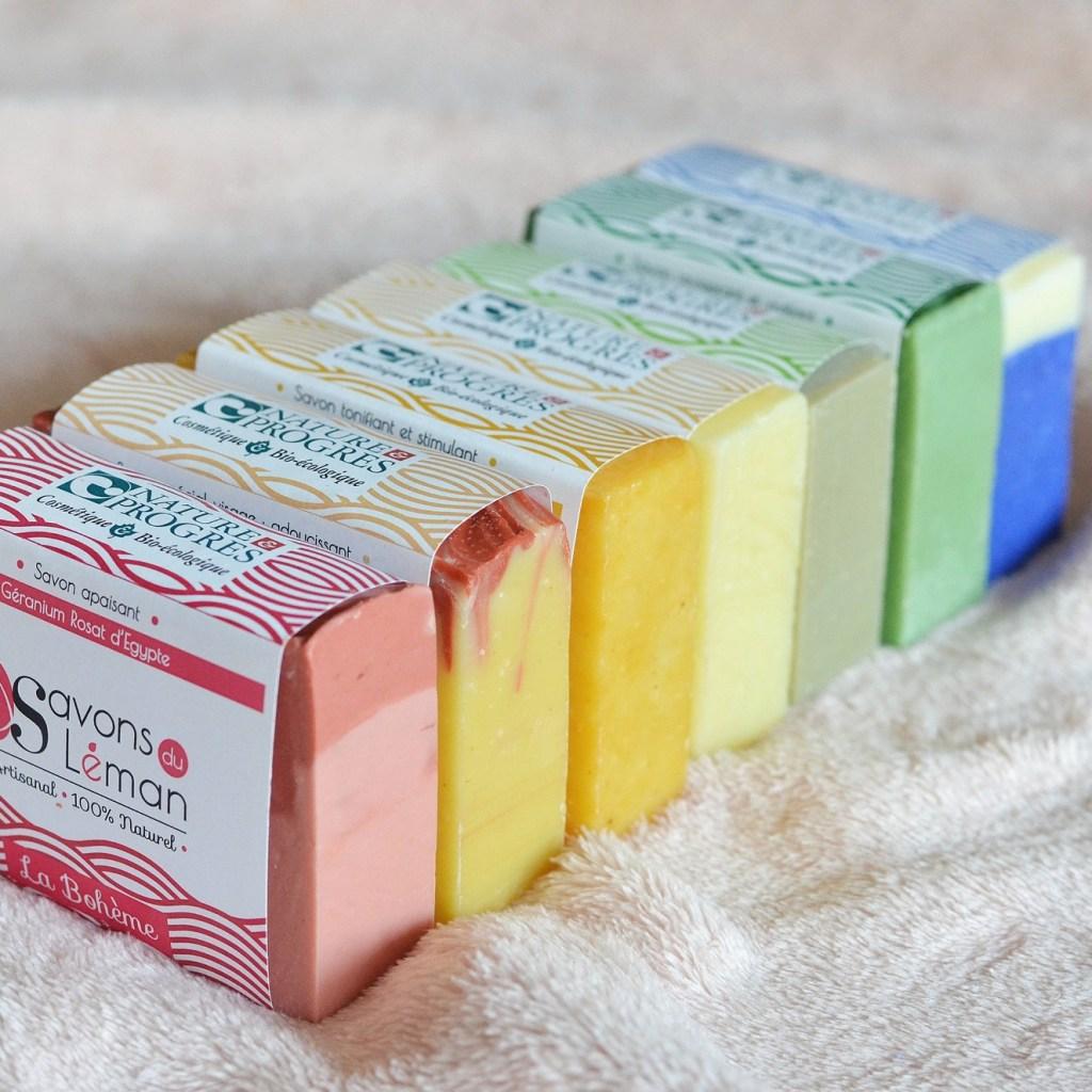 Les Savons du Léman, un arc-en-ciel de couleurs sous la douche !