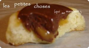 Des sablés, du caramel au beurre salé et du chocolat (où comment faire un bon goûter quand on est à court d'oeufs)