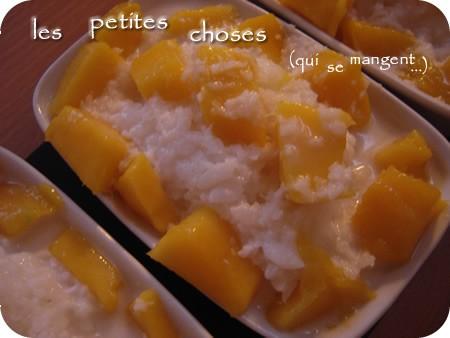 Riz gluant au lait de coco et à la mangue... une recette qui thaï bien