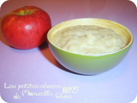 Compote pomme, cannelle et coco