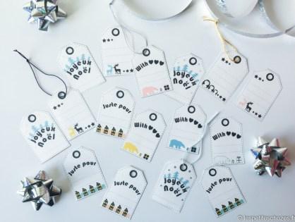 Etiquettes pour cadeaux de Noël à imprimer