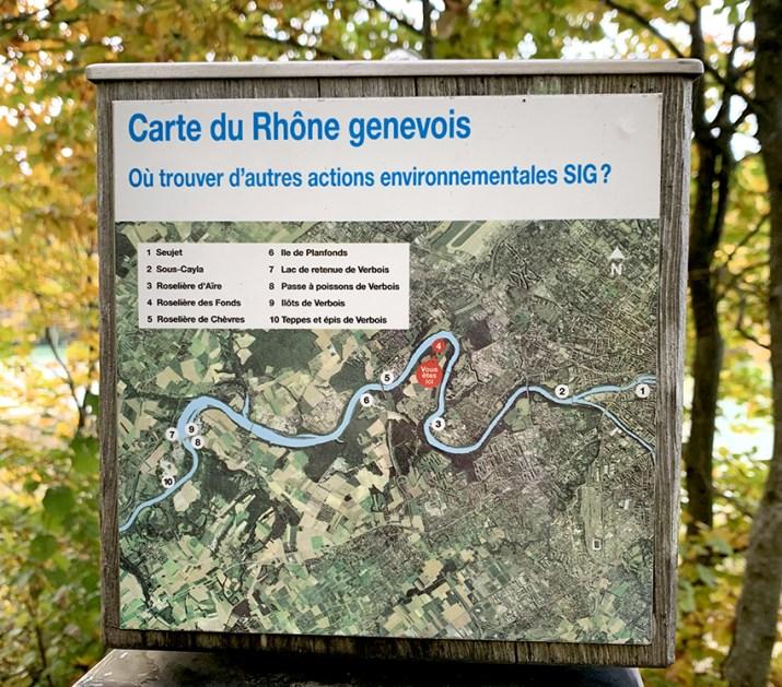 Carte du Rhône genevois