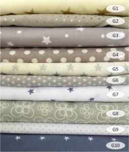 collection coton imprimé gris - 100% coton