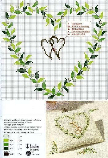 Mariage Au Point De Croix : mariage, point, croix, Grilles, Gratuites, Mariage