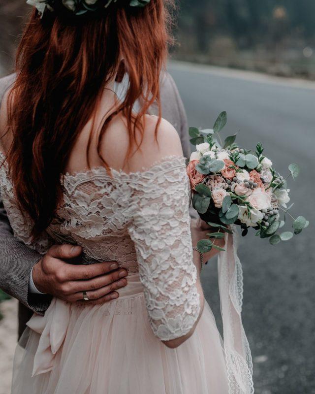 Rubans bouquet mariée