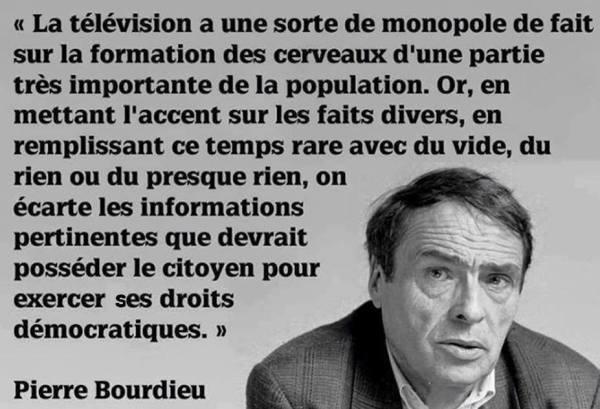 Citation télévision Pierre Bourdieu