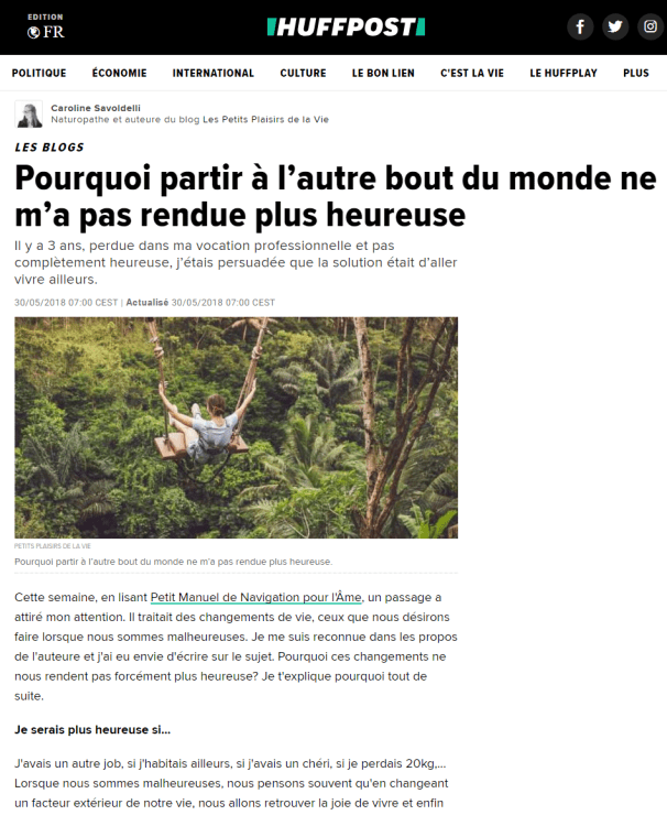 article huffington post développement personnel