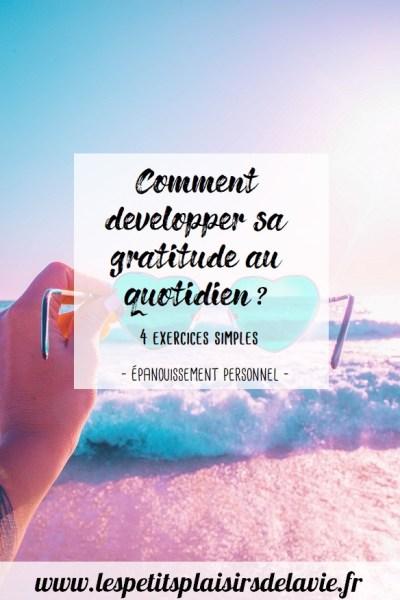 comment développer sa gratitude