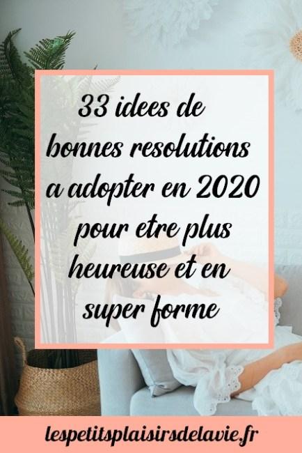 bonnes résolutions pour être plus heureuse meilleure santé