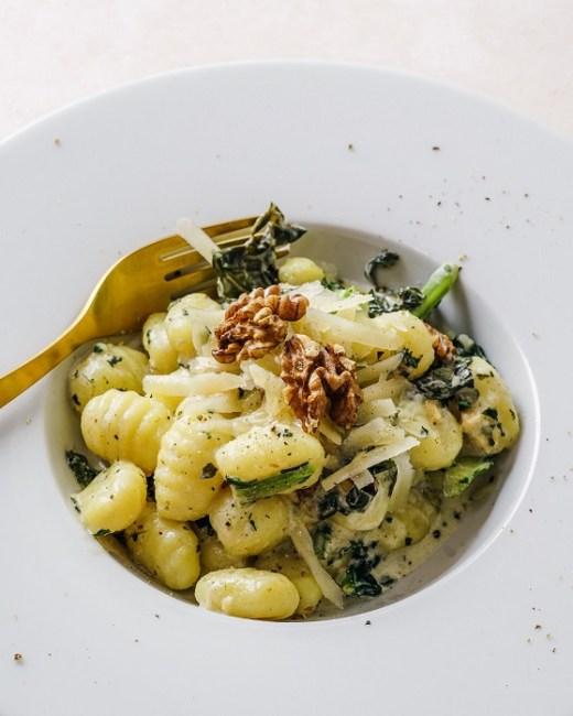 gnocchis aux fleurettes de brocoli sauce coco-curry