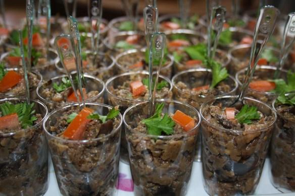 Verrines de terrine d'aubergine de Régine