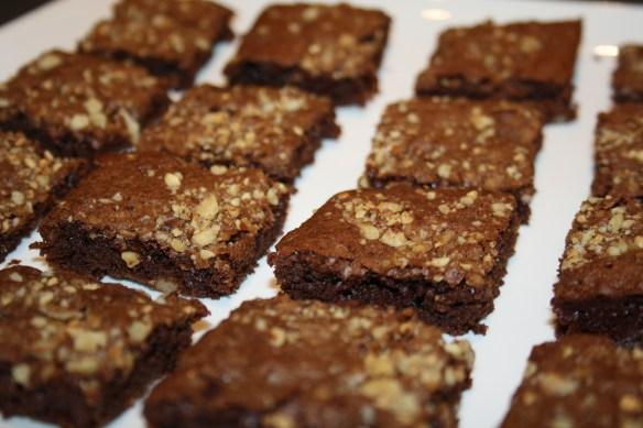 Brownies aux noix et aux pralins