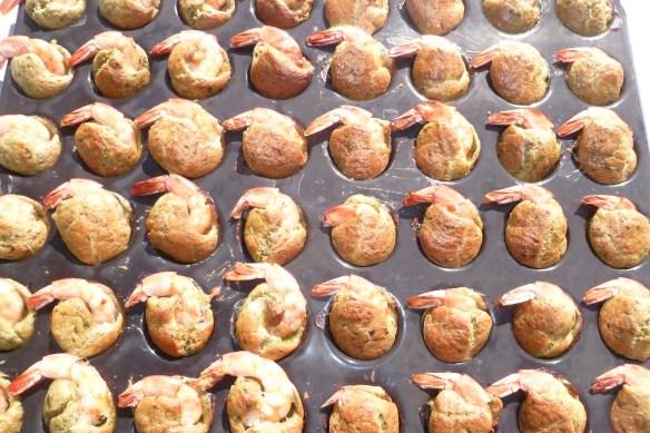 Bouchées de crevettes au pesto basilic