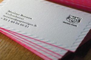 Carte de visite letterpress de Papier Tigre