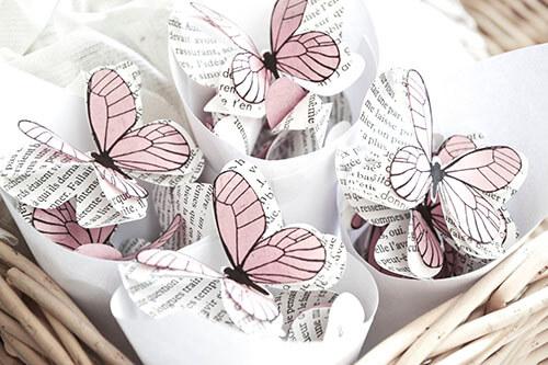 décoration de mariage papillons