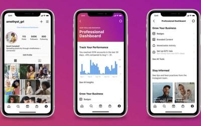 Instagram : un nouveau tableau de bord pour les comptes créateurs et professionnels