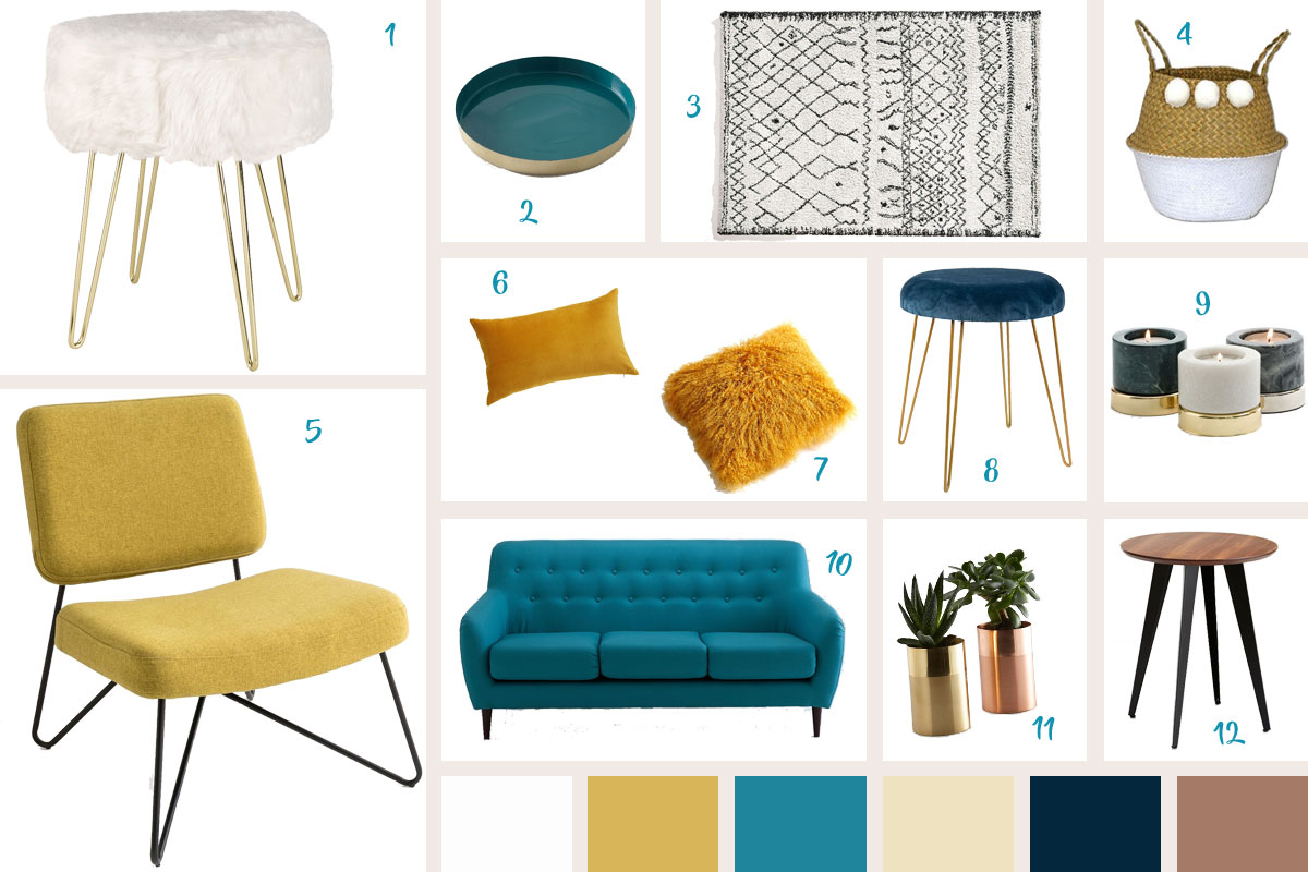Deco Salon Jaune Moutarde Et Bleu Canard - Novocom.top