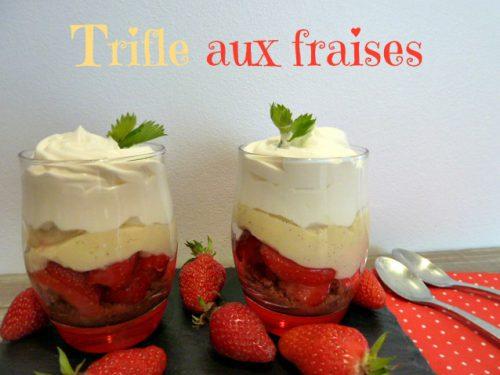 recette du trifle aux fraises