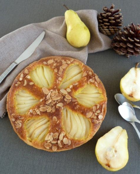 tarte aux poires et amandes