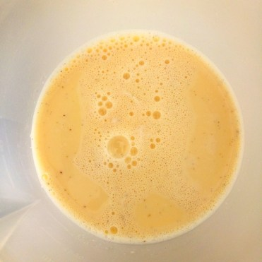 crème aux oeufs filtrée