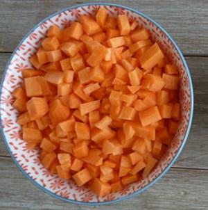 brunoise de carottes