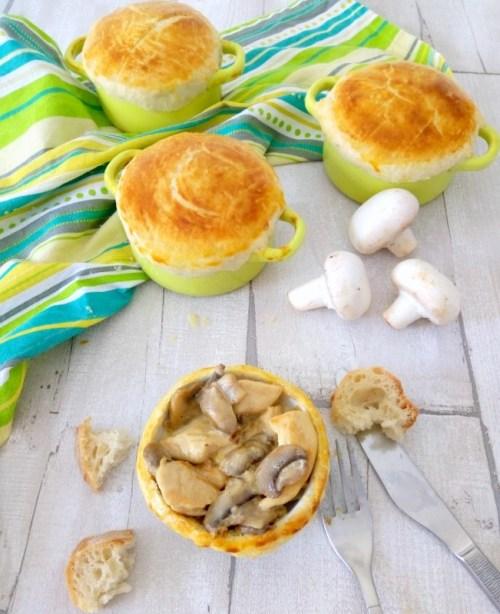 mini cocotte champignons poulet