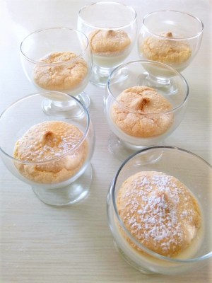 biscuits cuillères et panna cotta