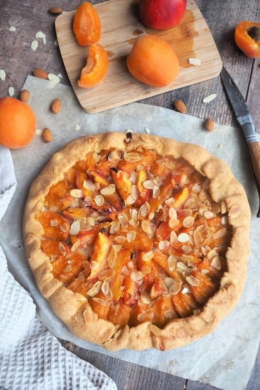 tarte rustique abricots