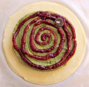 galette pistache framboises