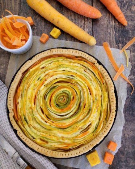 tarte spirale carottes courgettes