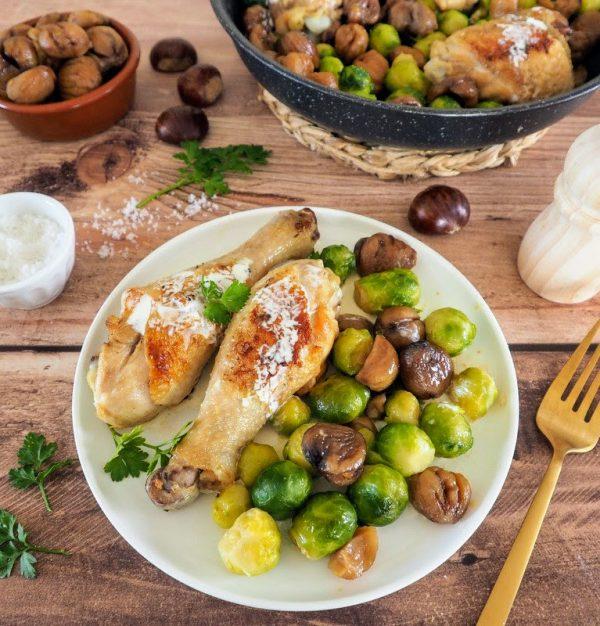 poulet au vin blanc et marrons