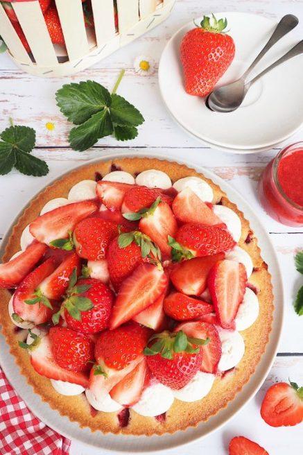 Tarte financier aux fraises