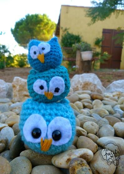Mini chouettes bleues