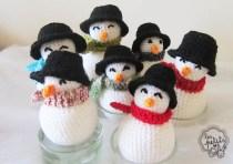 bonhommes de neige crochet Les Petits