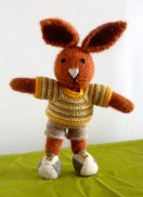 tricot mariée Les Petits lapins peluche