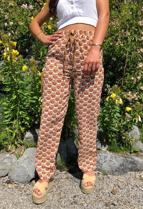 pantalon fluide motifs camel boutique les piplettes