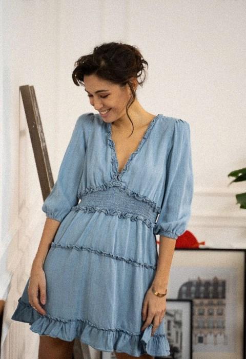robe courte tencel boutique les piplettes