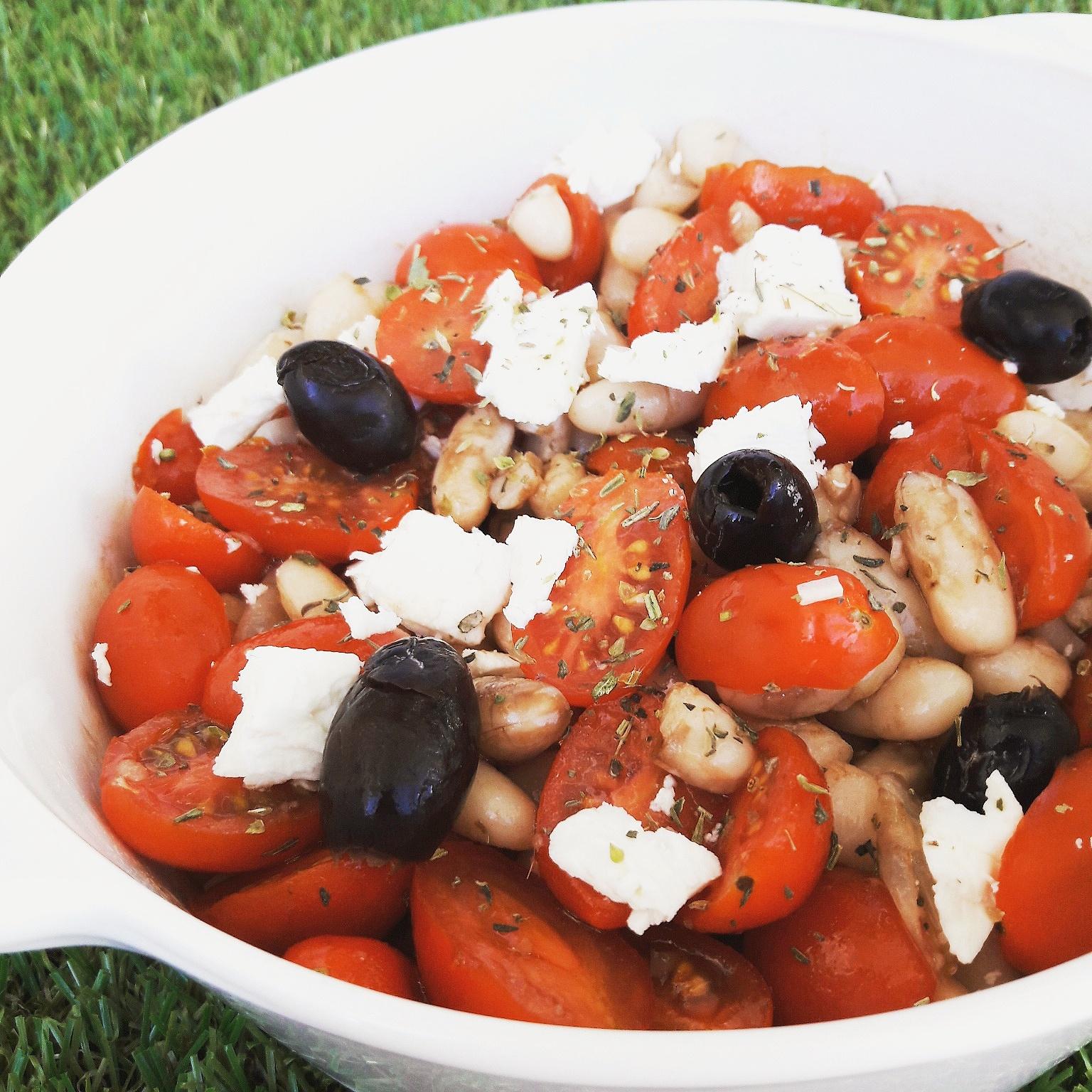 Salade méditerranéenne aux mogettes