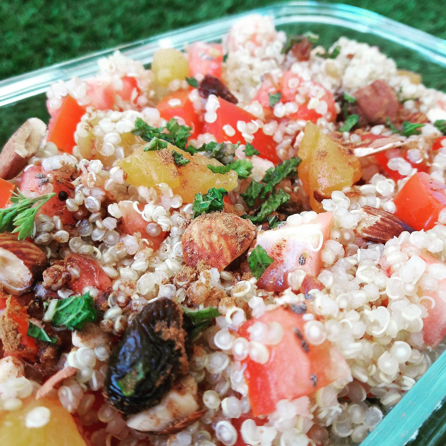 Taboulé de quinoa aux fruits secs