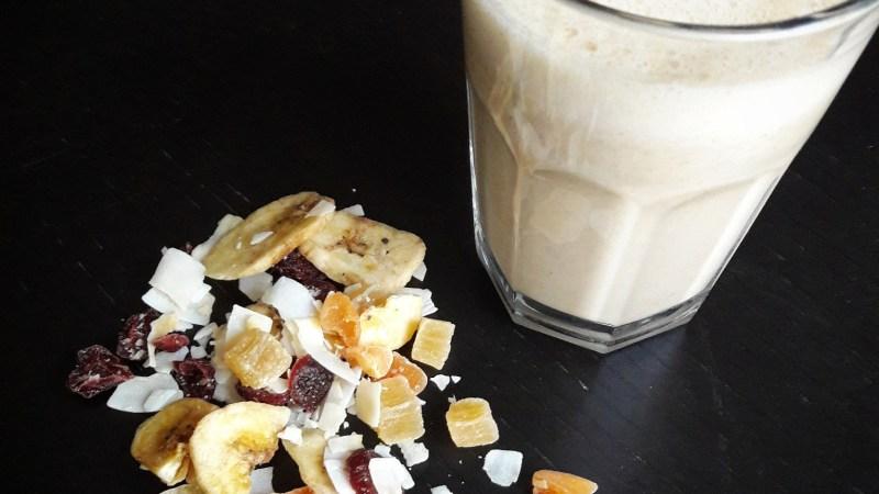 Smoothie énergie banane cacahuète