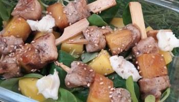 salade mangue poulet teriyaki